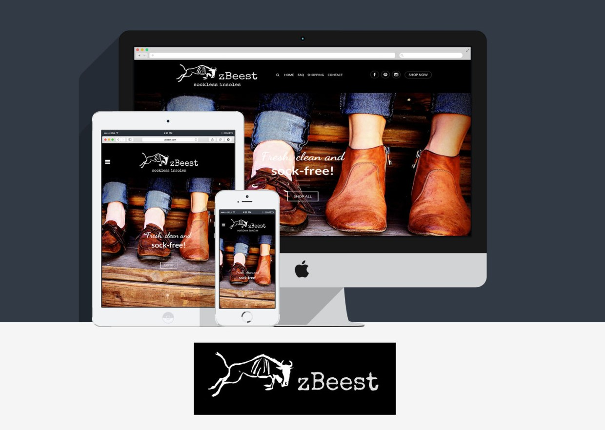 zBeest Homepage Desktop Mockup