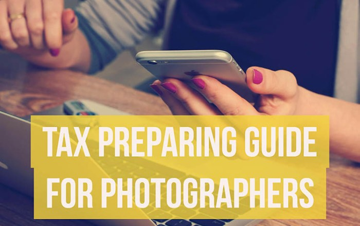 Self Employment Tax Photographers