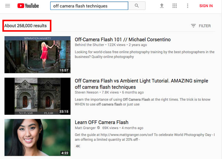 how to learn photography on youtube