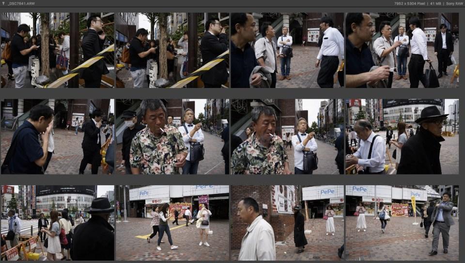 Tokyo Street Photography Contact Sheet