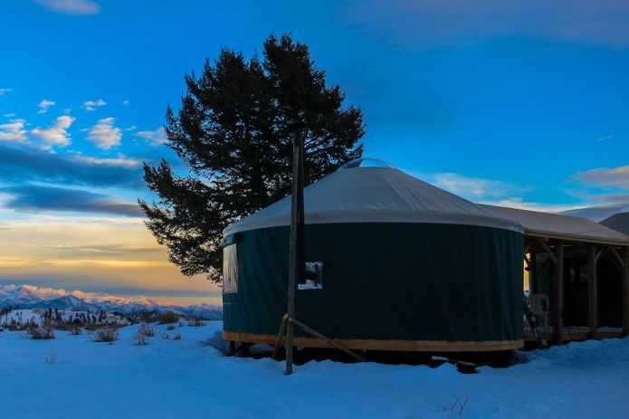 The New Coyote yurts!