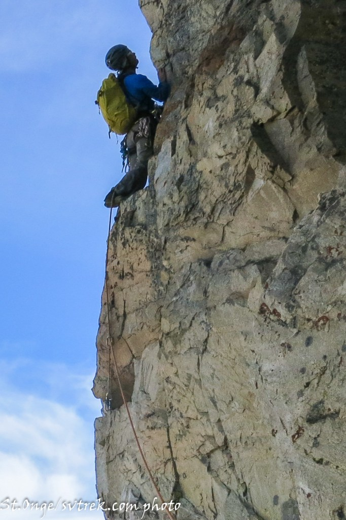 solid climbing on somewhat solid rock