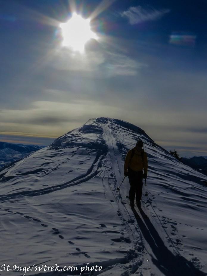 beautiful light on the ridge