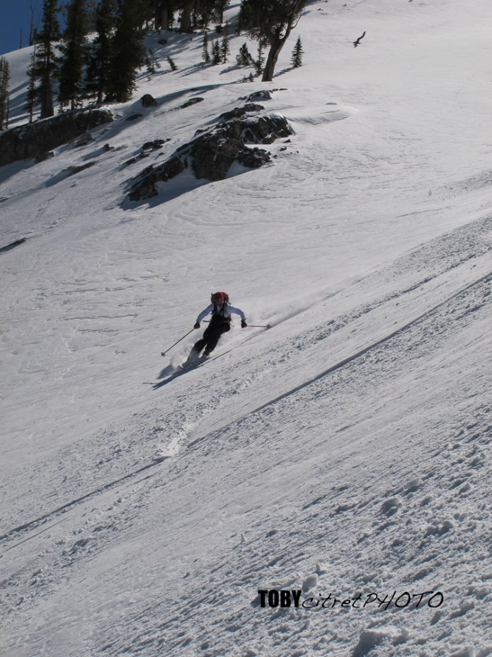 Willy skiing