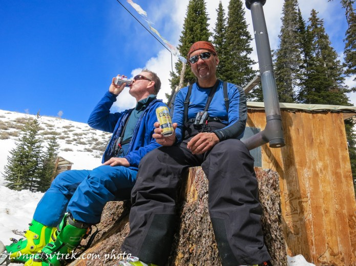 Cold beer after a great ski