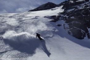Chris and Joe found some surprisingly good powder skiing in Ushuaia before the team arrived