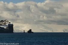 The rocks approaching Deception Island