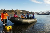 The zodiacs provided our mobility to land on the ice