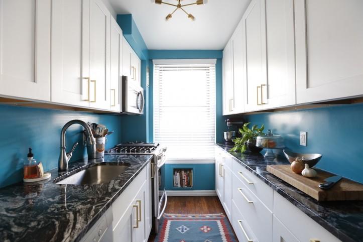 A Manhattan Kitchen Remodel Turns True Blue