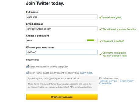 Join Twitter today screenshot.