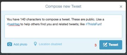 Example of a Tweet.