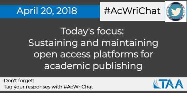 Sustaining and maintaining open access platforms for academic publishing