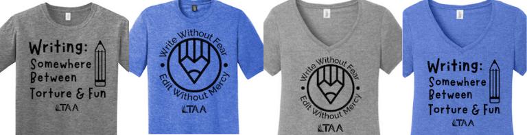 Writing t-shirt designs