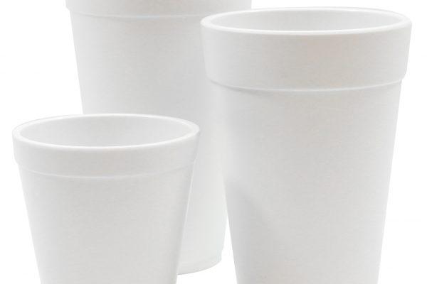 white melamine cups