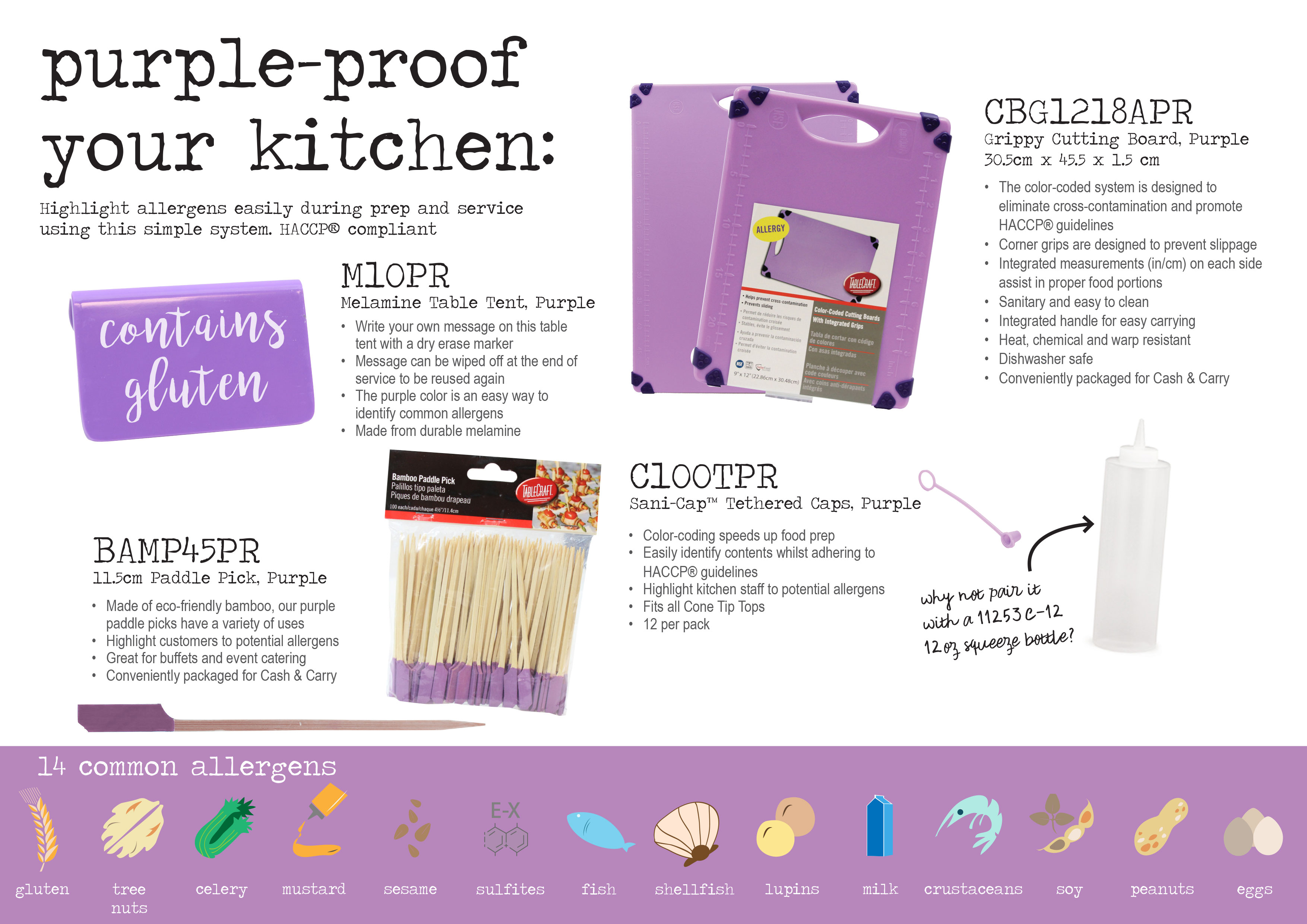 purple proof your kitchen with cutting board