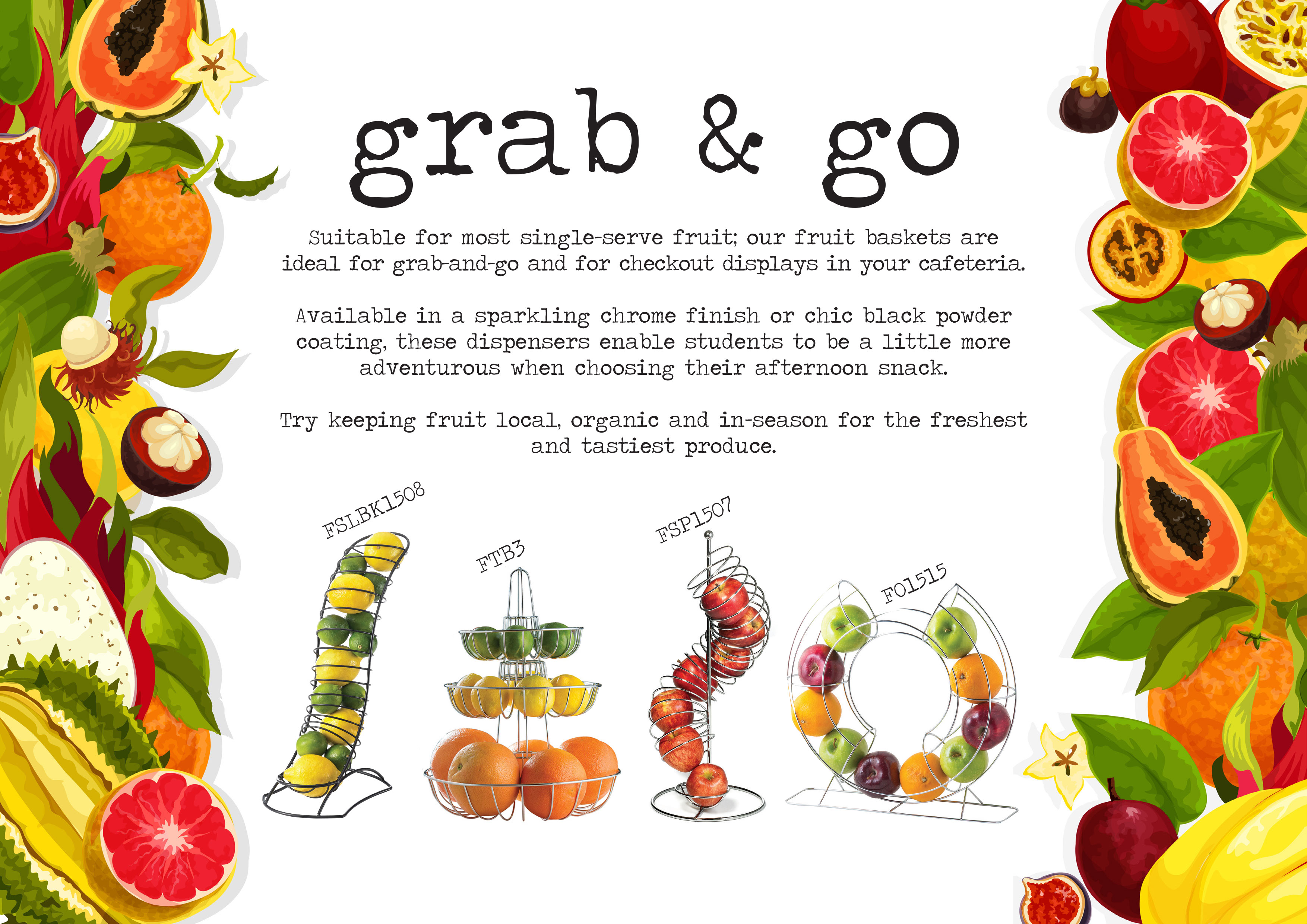 grab and go fruit servers