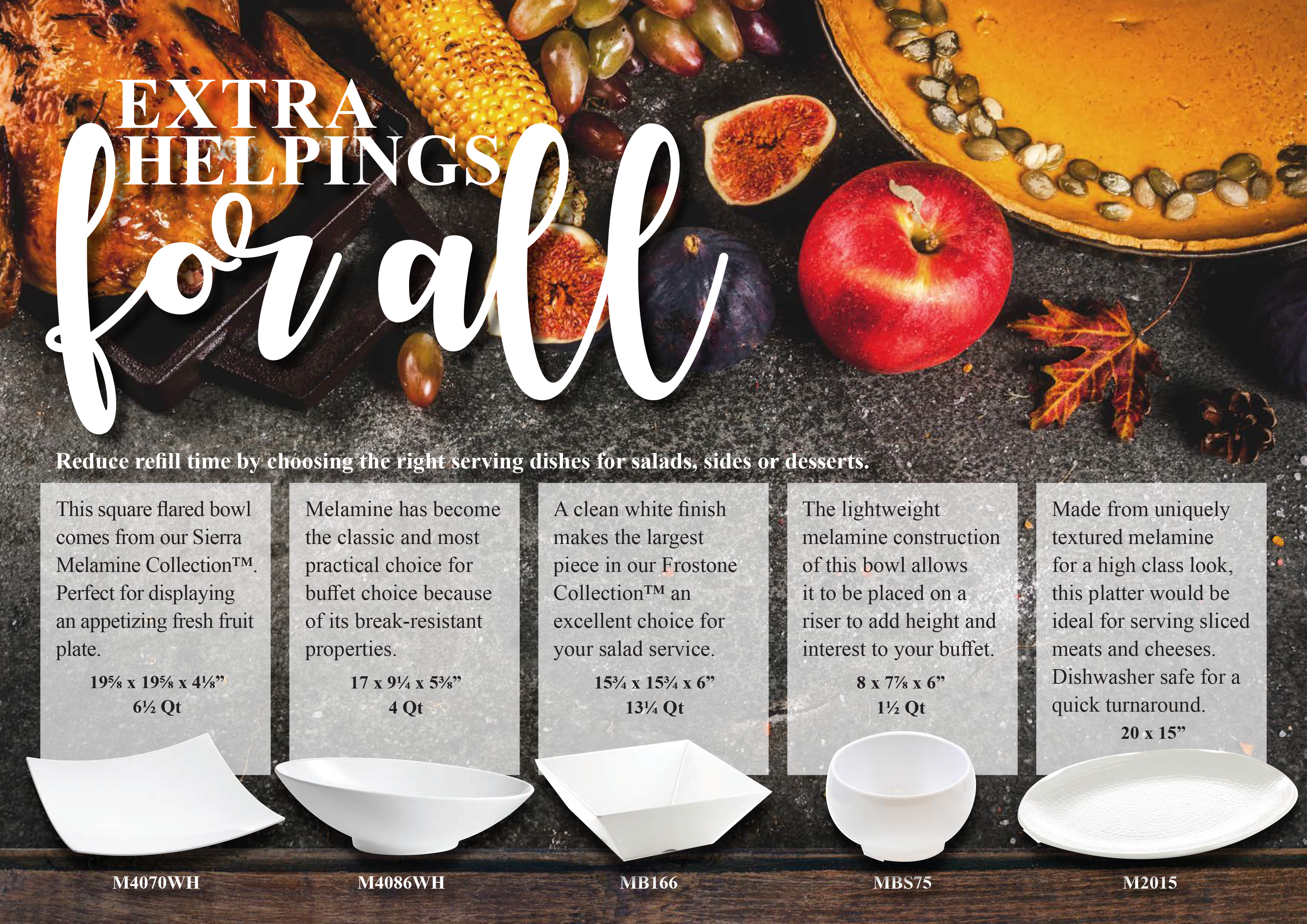 extra helpings for all with these tablecraft products