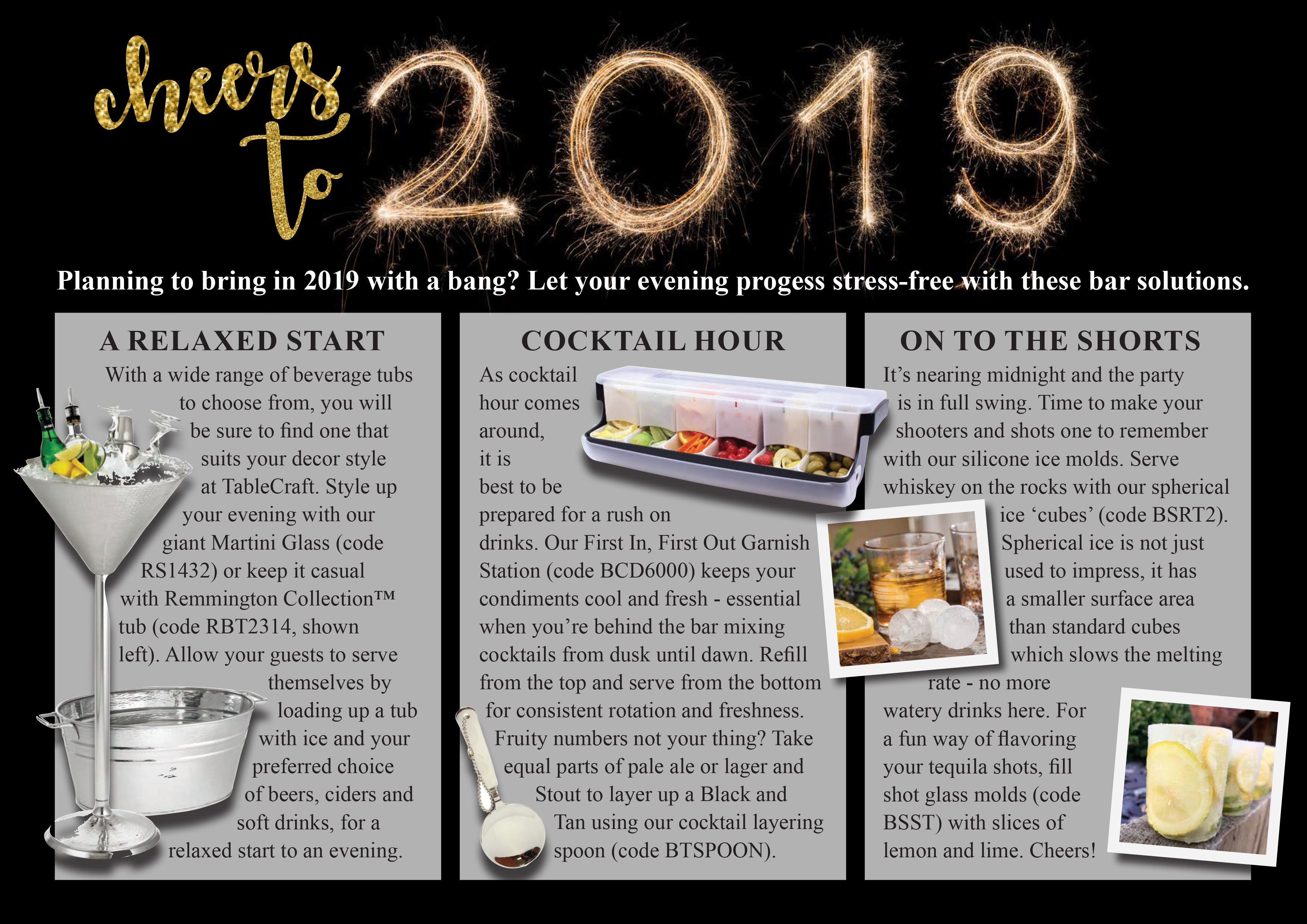 cheers to 2019 new years bar solutions
