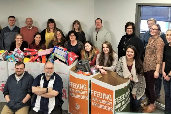 toys for tots and food drive for the holidays