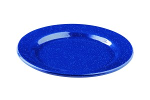 blue rustic plate from TableCraft