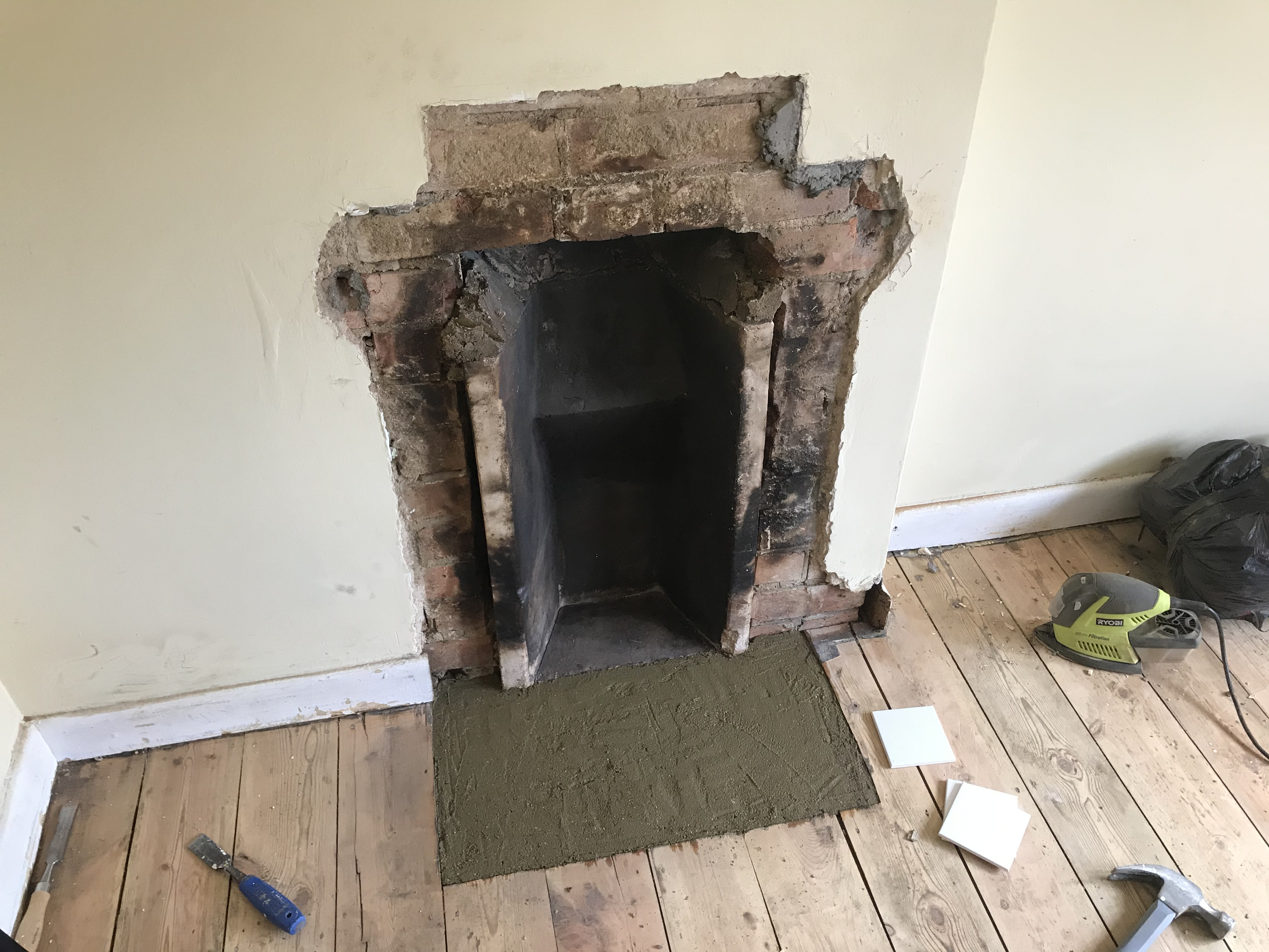 DIY Concrete fireplace
