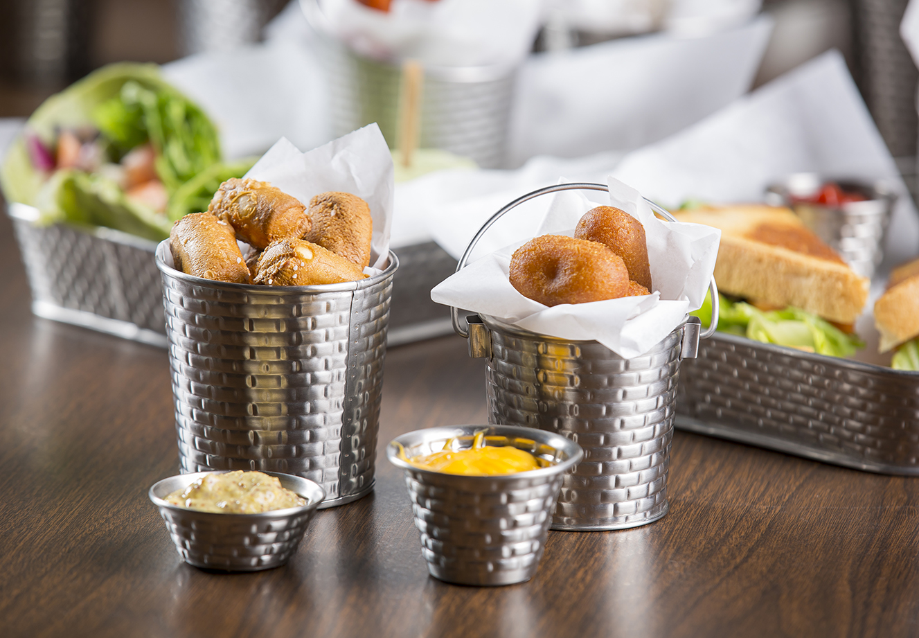 stainless steel cups and ramekins