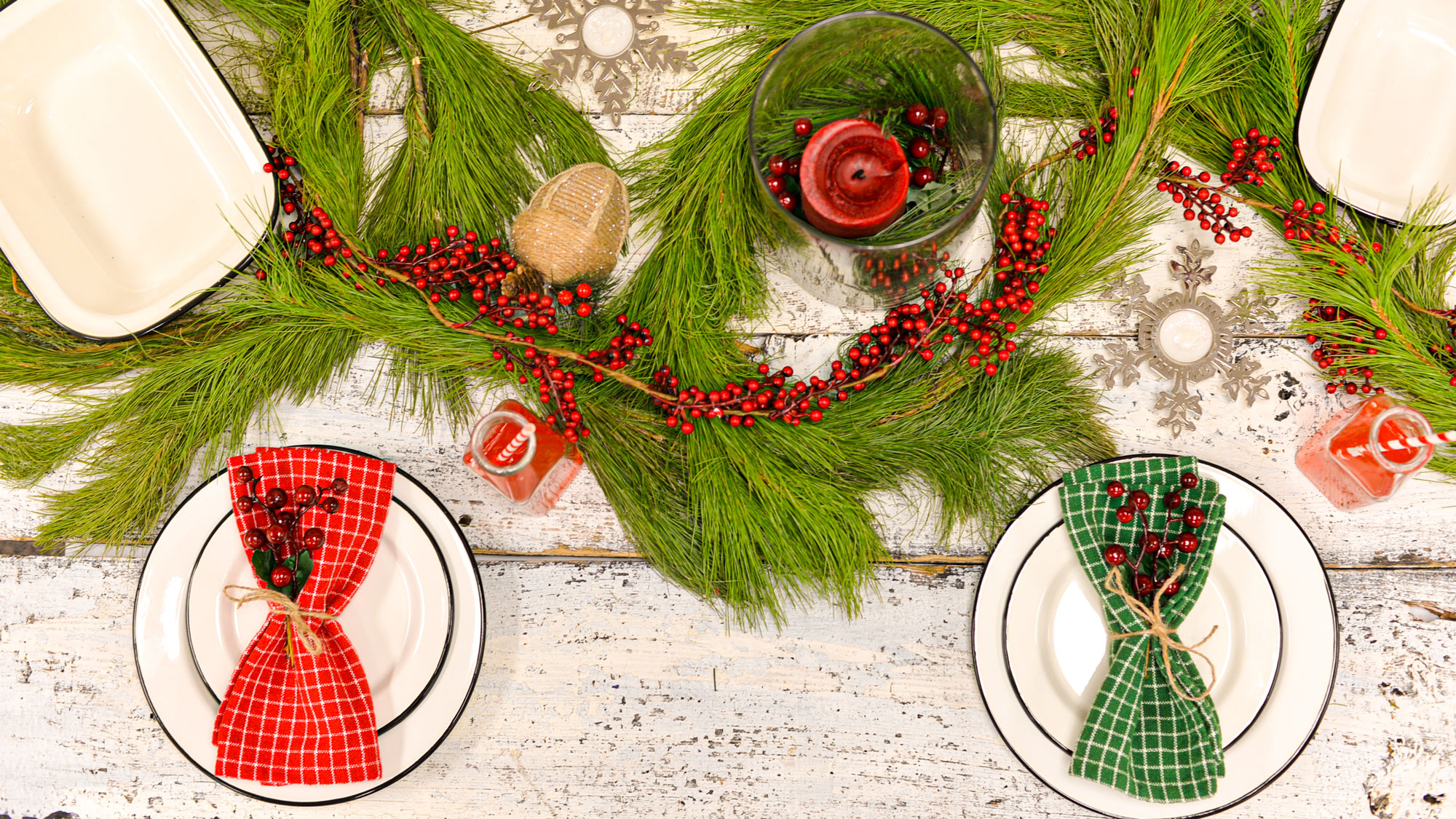 Holiday Setting rustic