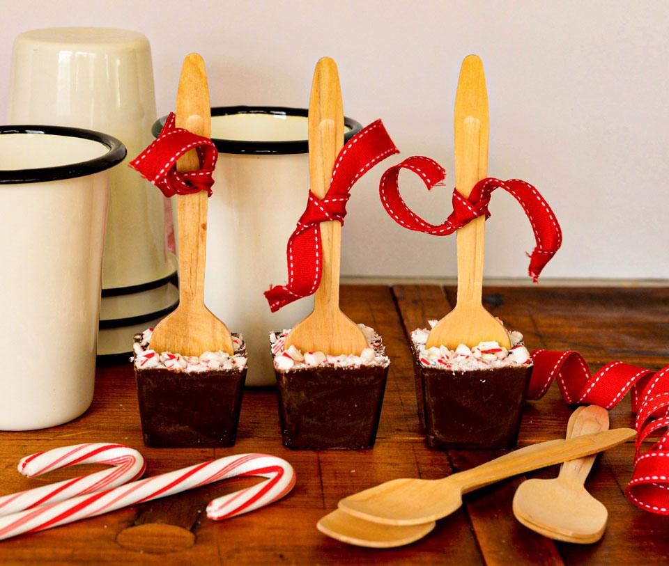 chocolate stirrers closeup tablecraft bamboo spoons