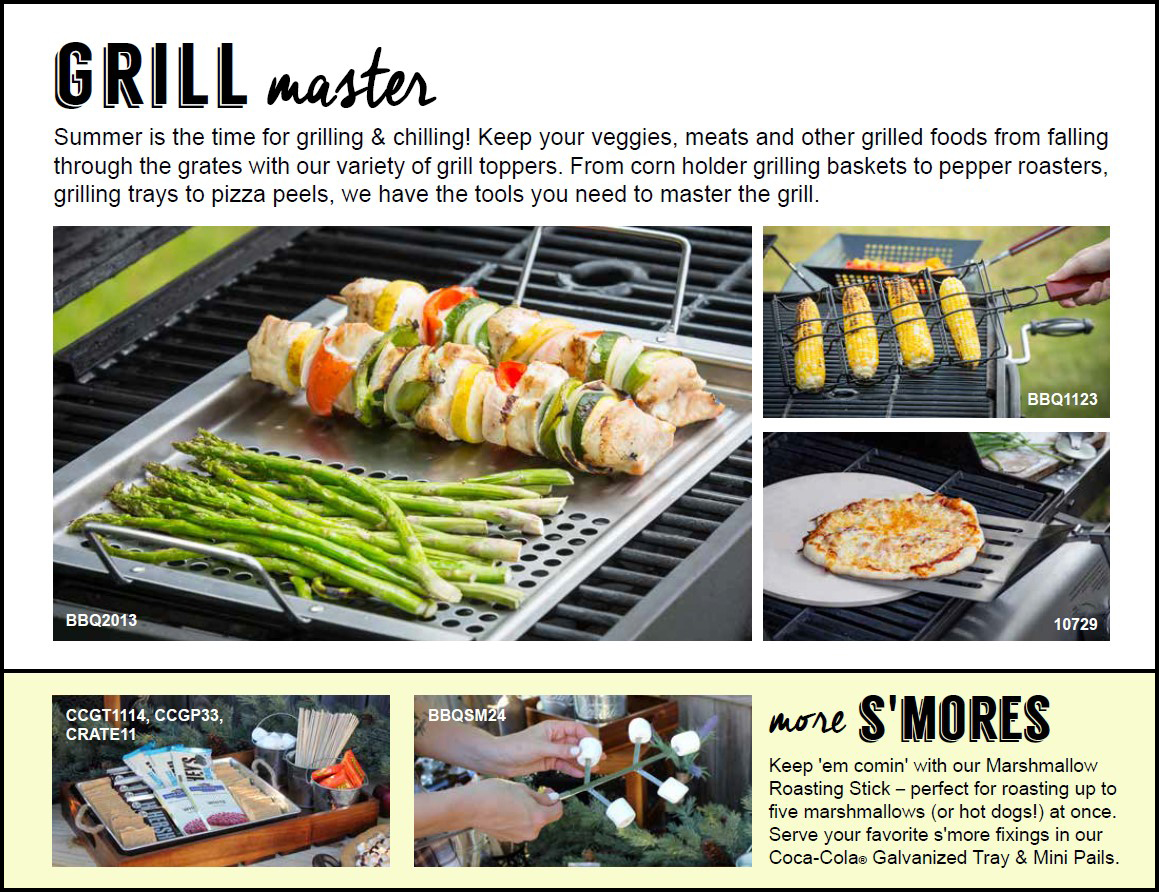 Grill Master summer look book page from TableCraft Home