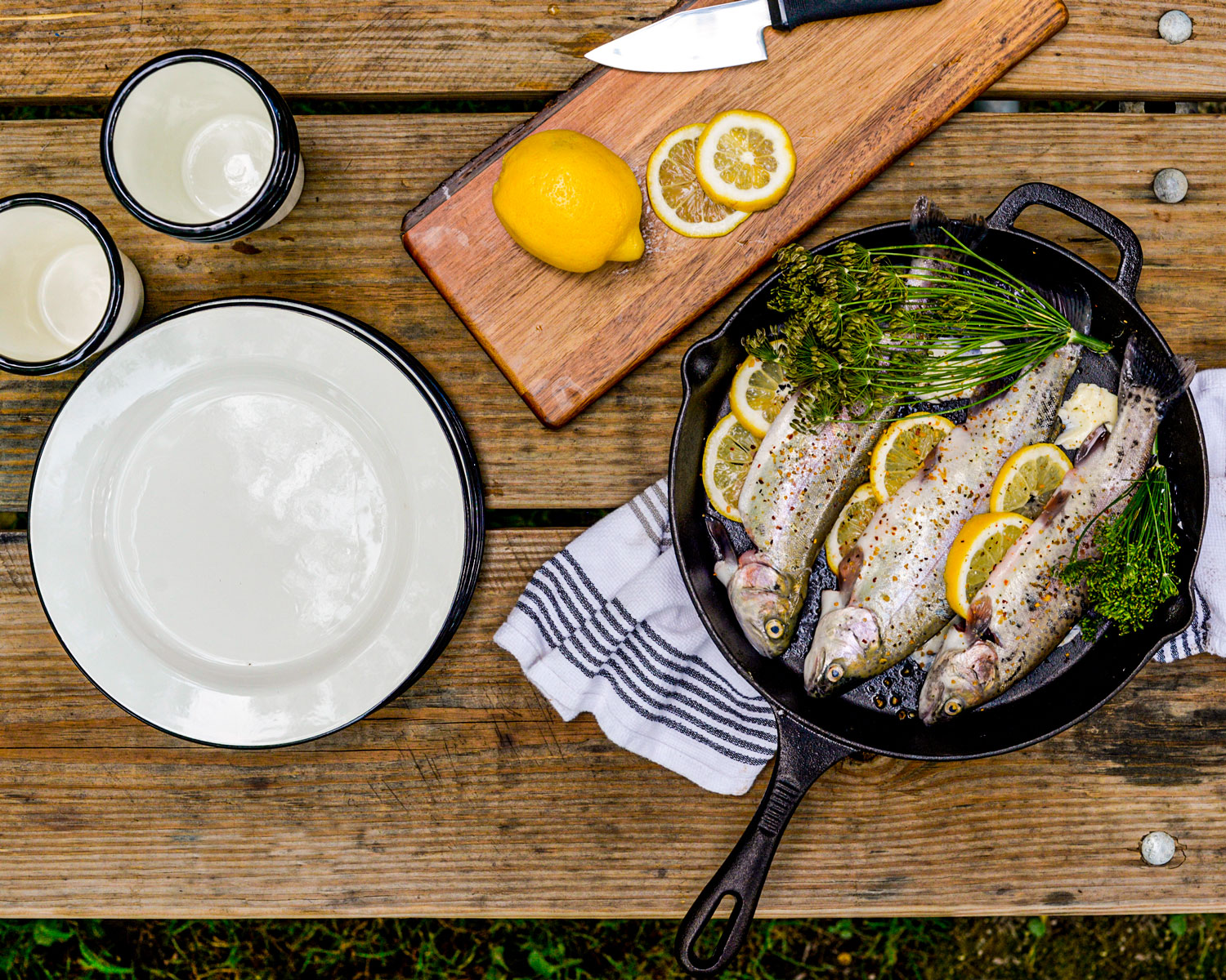 Fish Dinner with TableCraft Camping