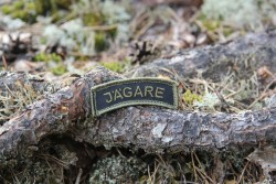 Jägare Tab Patch Black Green 2014 with Velcro