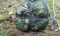 Compression Sack M90 in Swedish autumn nature.