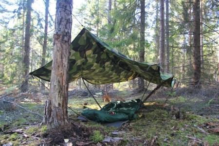 Field tarp Poncho M90 Lone Wolf camp