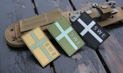 Sweden Flag OPS PVC Desert, Green and Black/Grey