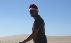 Santa in the desert during Photoshoot!