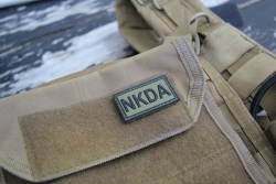 NKDA Green/Black PVC Velcro Patch