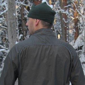 Reflective fabric on back at shoulder level