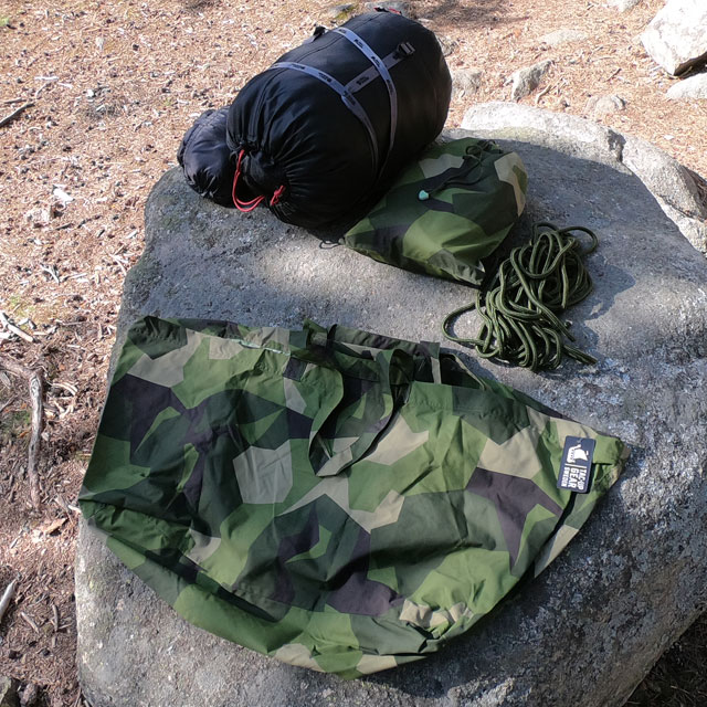 An empty Biggie Bag M90 waiting to be stuffed by sleeping bag and more