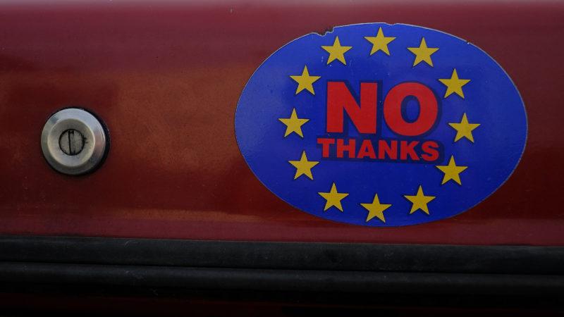 «EU? Nein danke!» Die Briten verschliessen sich Europa. Foto: Phil Noble (Reuters)