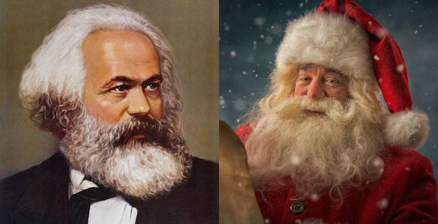 Mit Bart und ziemlich rot: Samichlaus und Marx