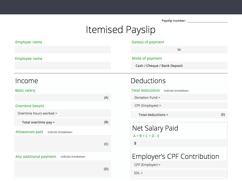 free downloadable itemised payslip