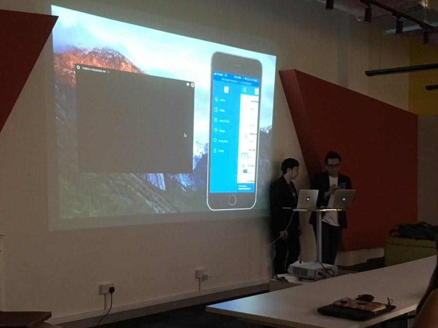 Mednefits team doing their presentation