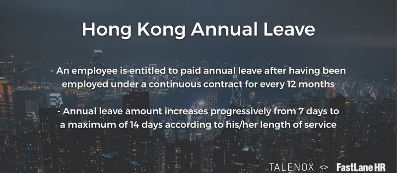 Hong Kong Annual Leave Conditions