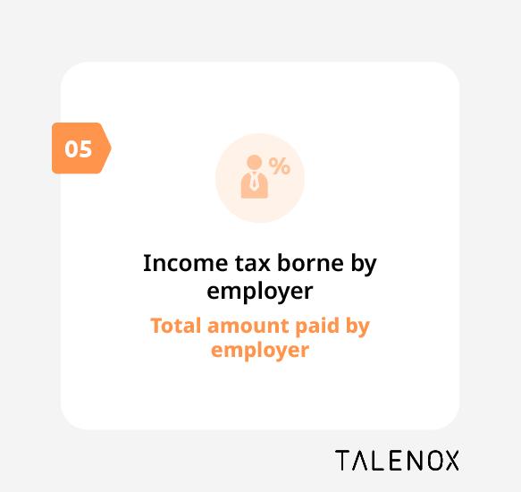 income tax borne by employer perquisite