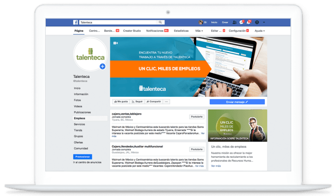 Talenteca + Facebook Jobs = Miles de Empleos