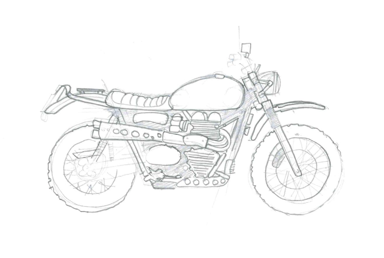 Como Dibujar Una Moto