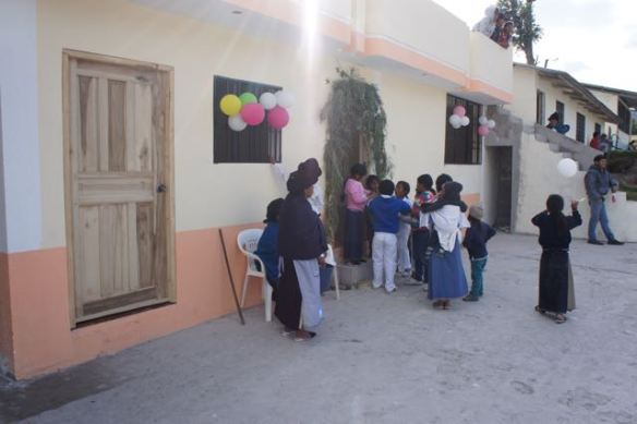 The finished building in Guachinguero.