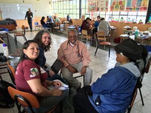 Veronica with healthcare volunteers