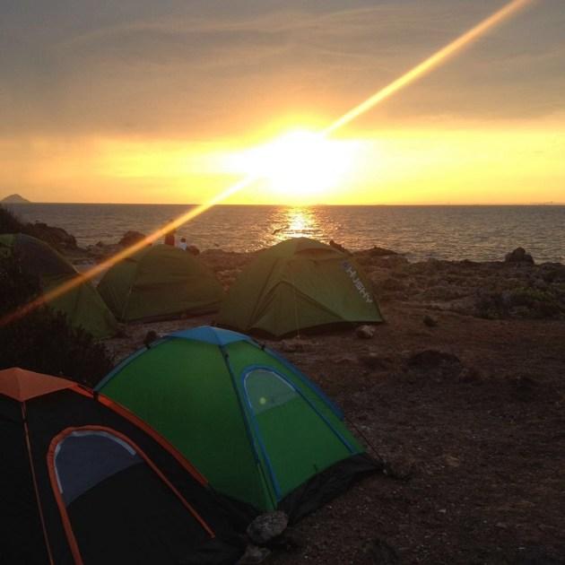 Gün batımı, adanın en keyifli dakikaları