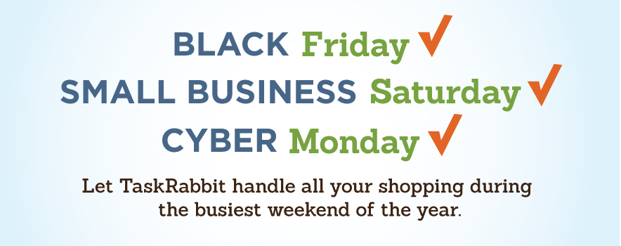 Black Friday Cyber Monday Small Business Saturday Shopping Help